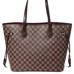 Daisy rose black and brown checkered neverfull